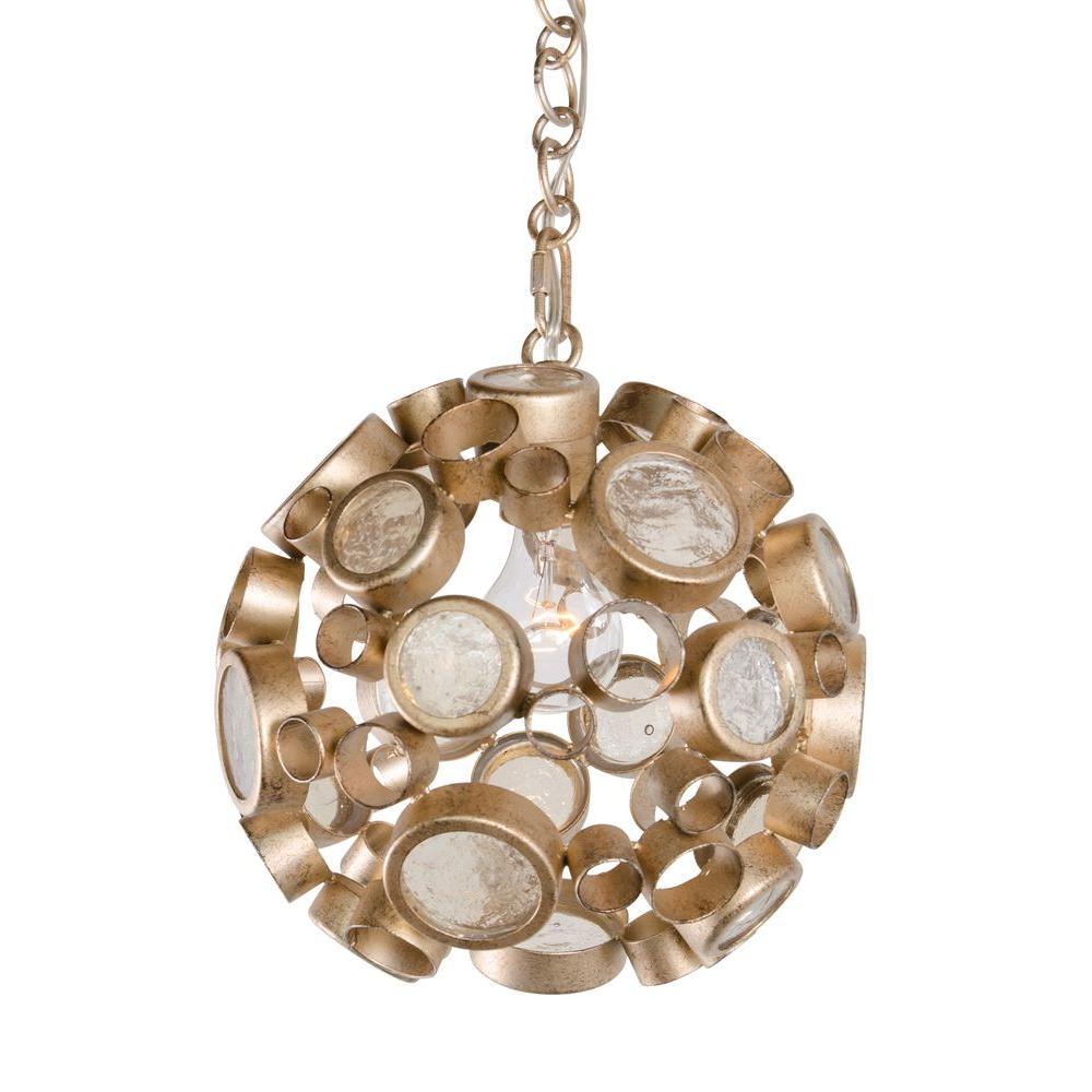 Varaluz Fascination 1 Light Zen Gold Pendant With