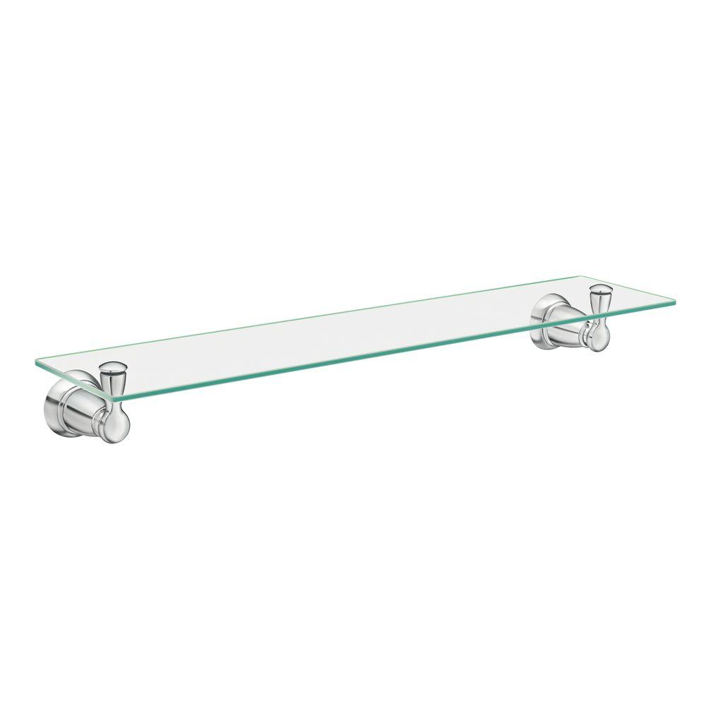 MOEN Banbury 5-4/25 in. L x 3 in. H x 22-3/4 in. W Wall-Mount Clear ...