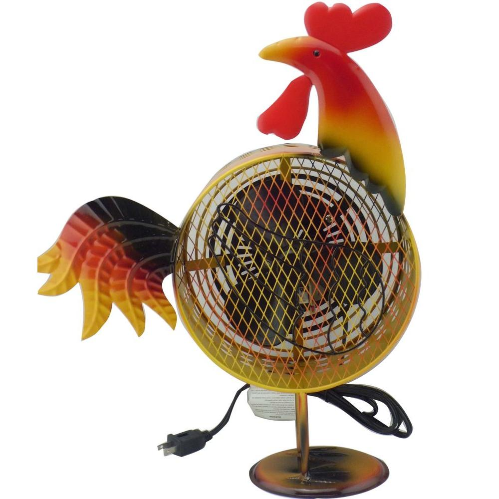 null 8.5 in. Himalayan Breeze Decorative Rooster Fan (Medium)