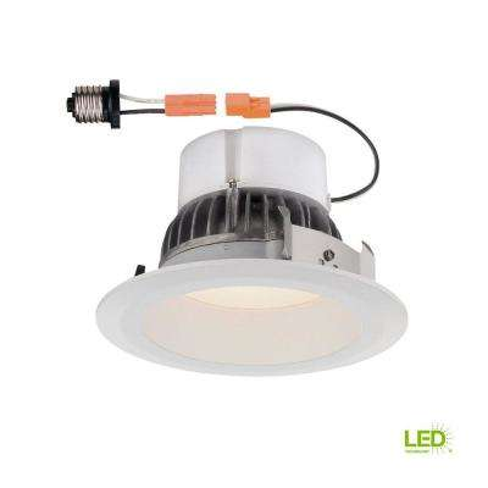 Deep Splay 4 in. 2700K White Trim Warm 91 CRI LED Ceiling Recessed Light