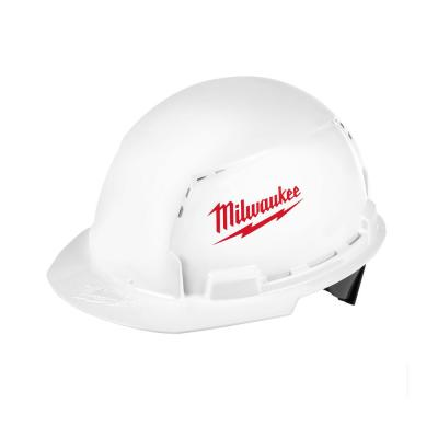 BOLT White Type 1 Class C Front Brim Vented Hard Hat (6-Pack)