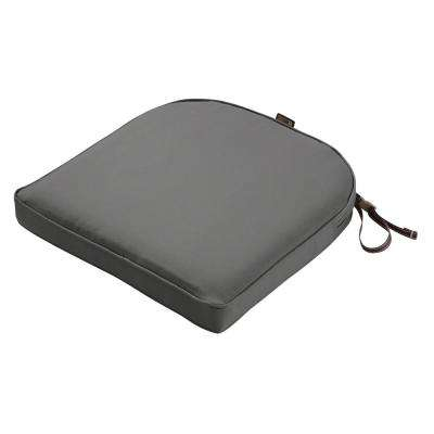 Montlake Fade Safe Light Charcoal 18 in. Contoured Outdoor Seat Cushion