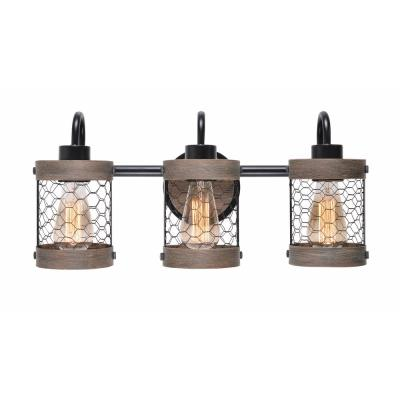Cozy 3-Light Oil Rubbed Bronze Bathroom Vanity Light