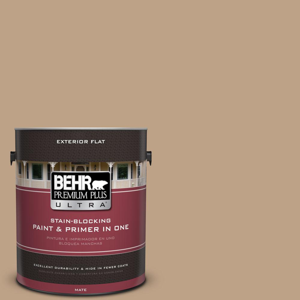 BEHR Premium Plus Ultra 1-gal. #PPU4-5 Basketry Flat Exterior Paint