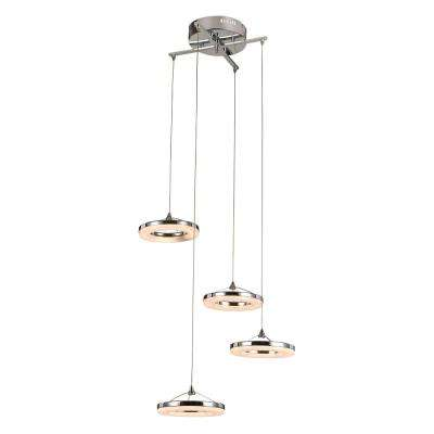 Orbital Ring 48-Watt Chrome Integrated LED Pendant