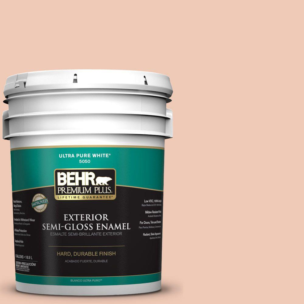 BEHR Premium Plus 5-gal. #M200-2 Fruit Salad Semi-Gloss Enamel Exterior Paint
