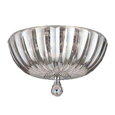 Mansfield Collection 4-Light Clear Crystal Flush Mount