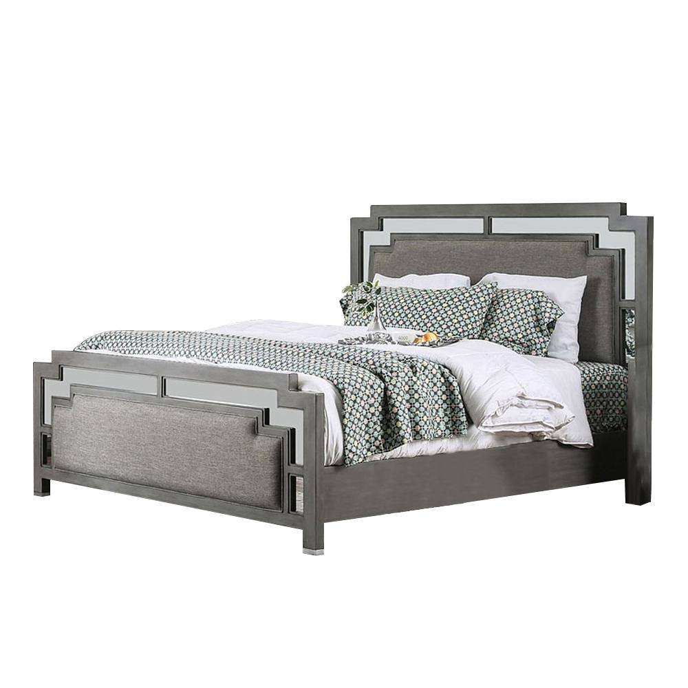 Jeanine California Gray King Bed