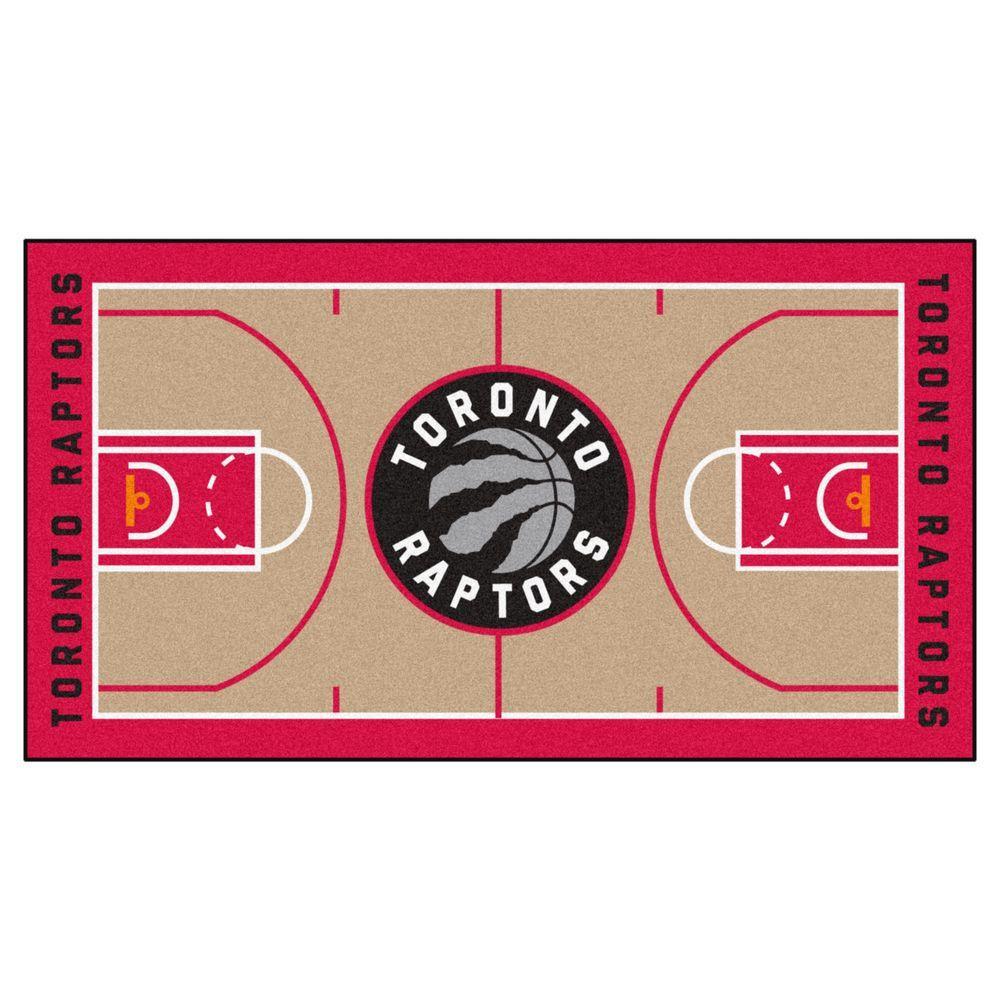 Fanmats Nba Toronto Raptors Tan 3 Ft X 5 Ft Indoor Basketball