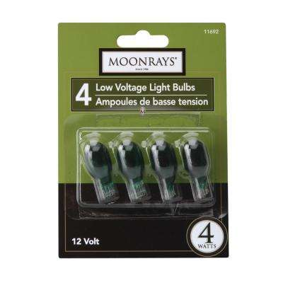 4-Watt Green Glass T5 Wedge Base Incandescent Replacement Light Bulb (4-Pack)