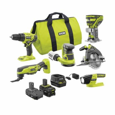 ONE+ 18V Cordless 6-Tool Combo Kit with (1) 4.0 Ah Battery, (1) 1.5 Ah Battery, 18-Volt Charger, and Bag