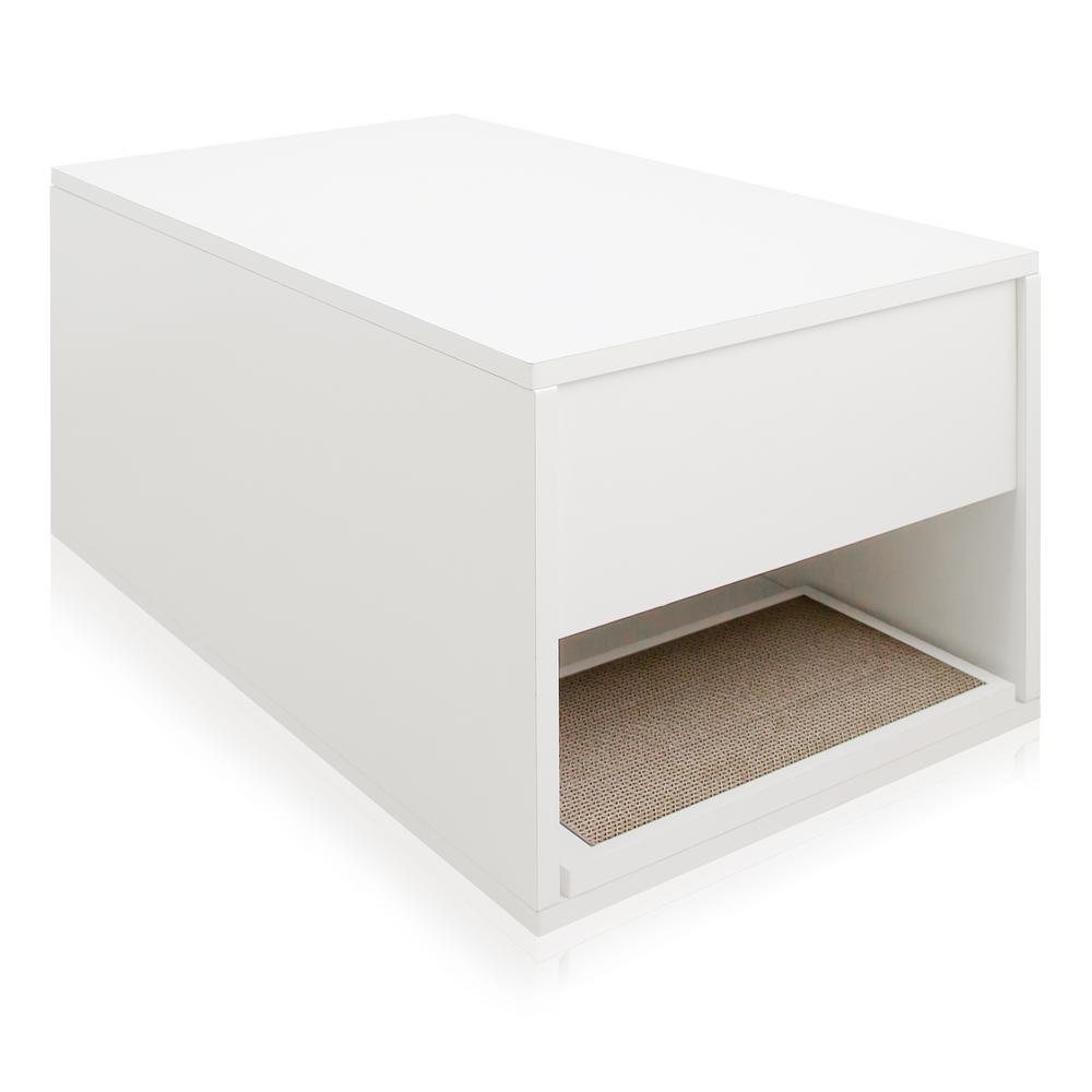 Modern Litter Box: Way Basics Eco ZBoard White Modern Cat Litter Box