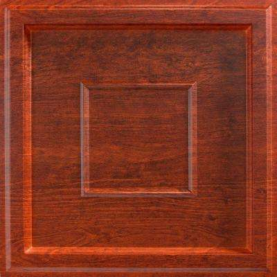Inset Coffer 2 ft. x 2 ft. Lay-in Ceiling Tile in Walnut