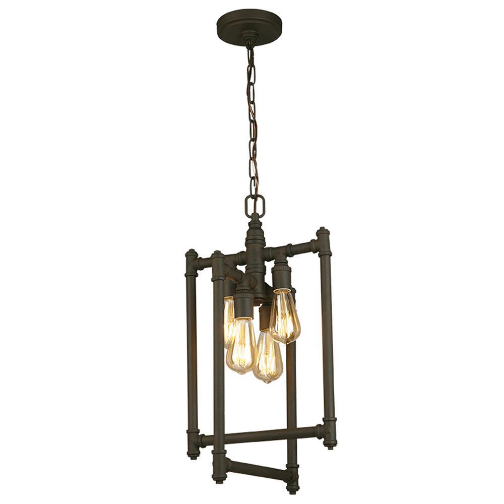 Wymer 4-Light Matte Bronze Chandelier