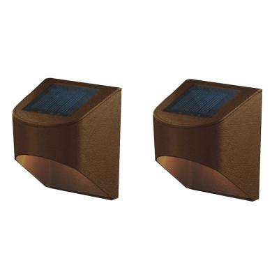 Solar powered deck lighting outdoor lighting the home depot solar bronze integrated led deck aloadofball Images