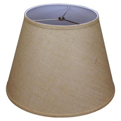 11 in. Top Diameter x 18 in. Bottom Diameter x 13 in. Slant Burlap Natural Empire Lamp Shade