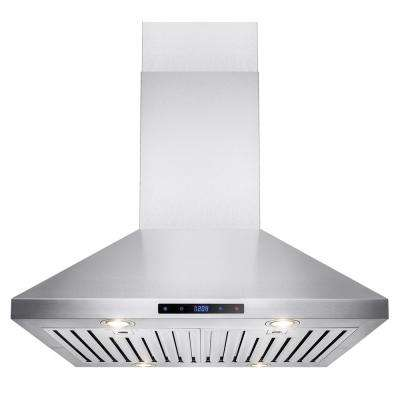 30 in. Convertible Kitchen Island Mount Range Hood in Stainless Steel with Touch Control