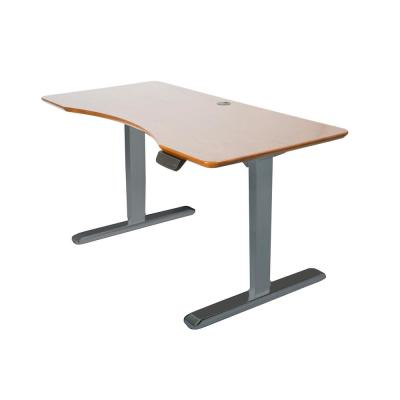 ErgoMax Gray Electric Height Adjustable Desk Frame w/Dual Motor, Tabletop Not Included, 50 in. Max Height