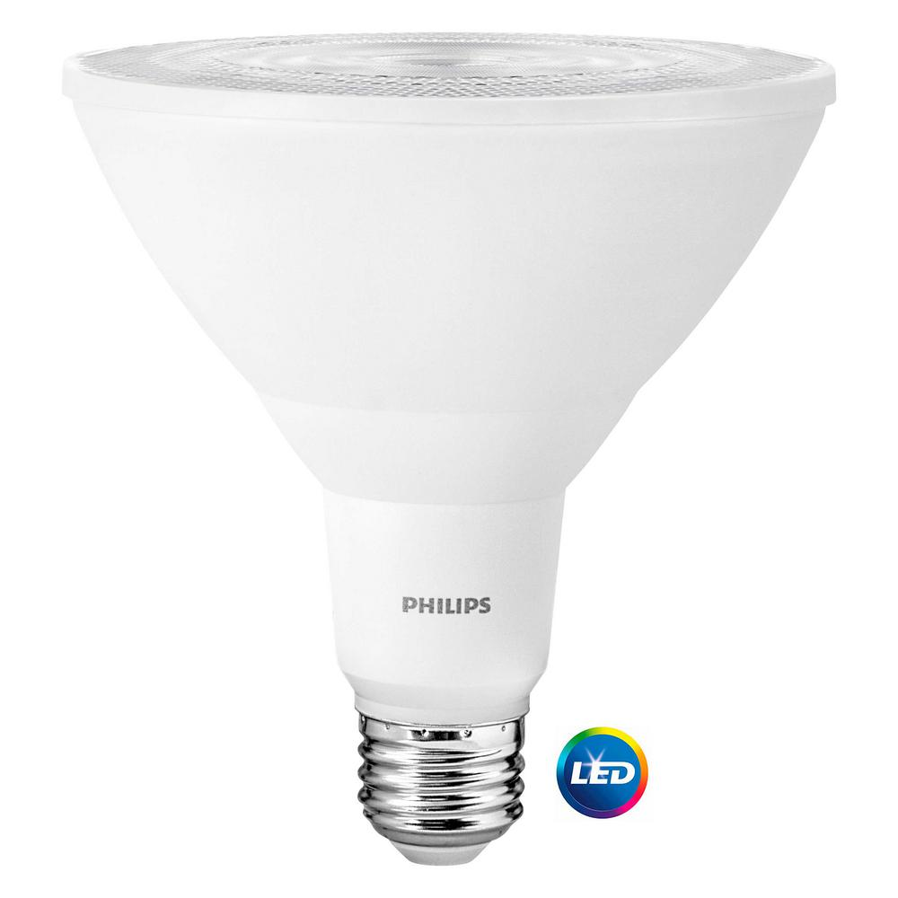 philips 100 watt equivalent par38 led indoor outdoor light bulb daylight 2 pack 460121 the. Black Bedroom Furniture Sets. Home Design Ideas