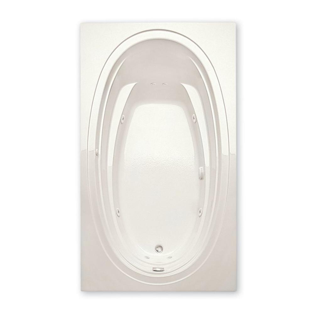 Alydar II 6 ft. Acrylic Reversible Drain Rectangular Drop-in Whirlpool Bathtub