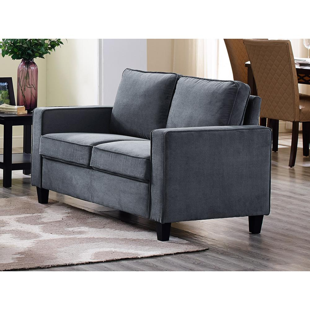 Lifestyle Solutions Garren Microfiber Loveseat With Track Arms In