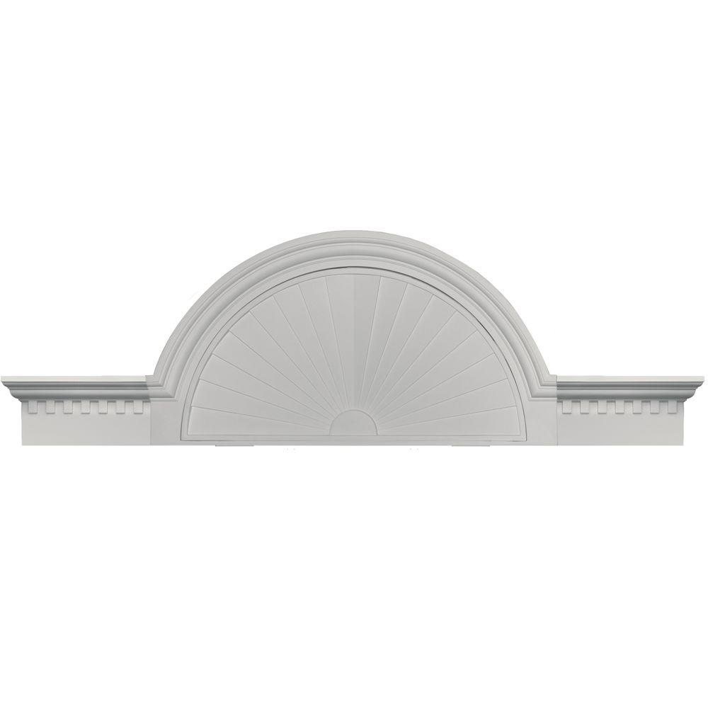 Builders Edge 36 in. - 69 in. Classic Dentil Panel Window and Door Accent in 030 Paintable-DISCONTINUED