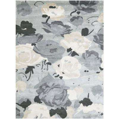 Shinoda Gray 7 ft. 6 in. x 9 ft. 6 in. Rectangle Area Rug