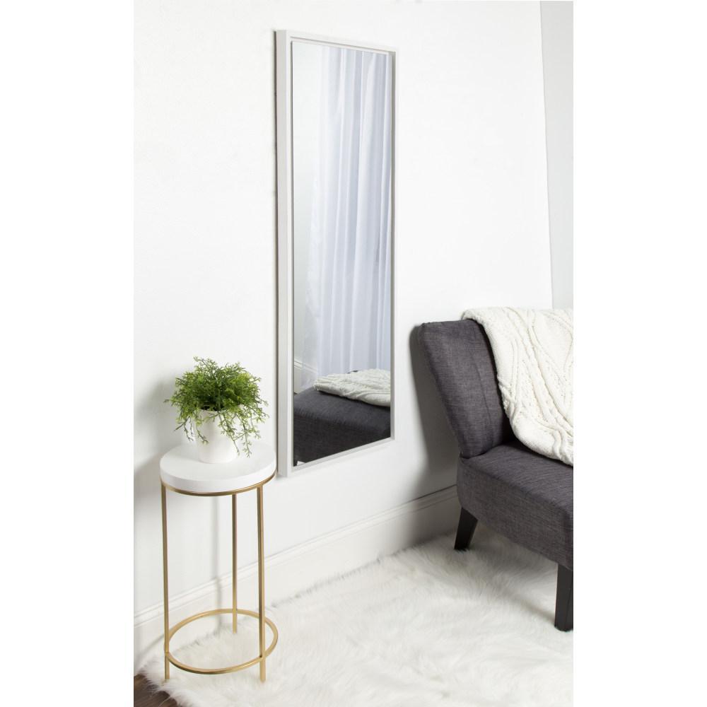 Evans Rectangle White Mirror