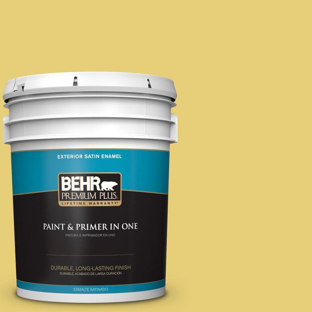 BEHR Premium Plus 5-gal. #P320-5 Green Papaya Satin Enamel Exterior Paint