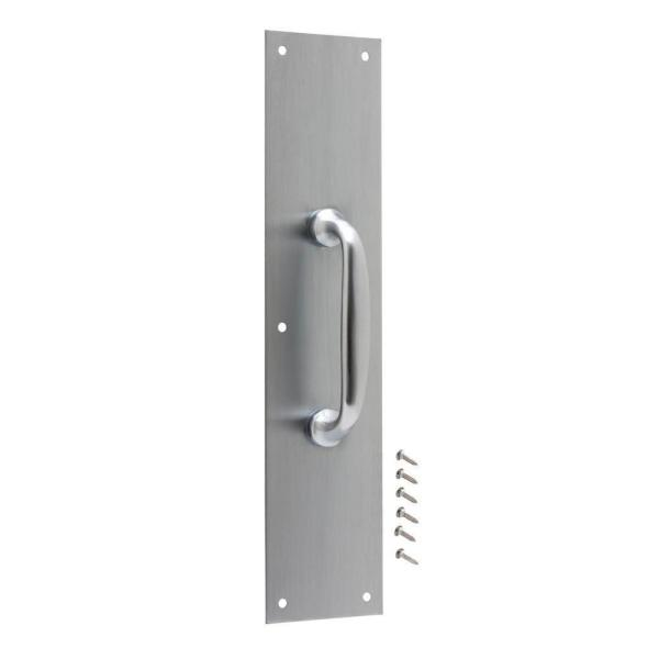 3-1/2 in. x 15 in. Satin Aluminum Pull Plate