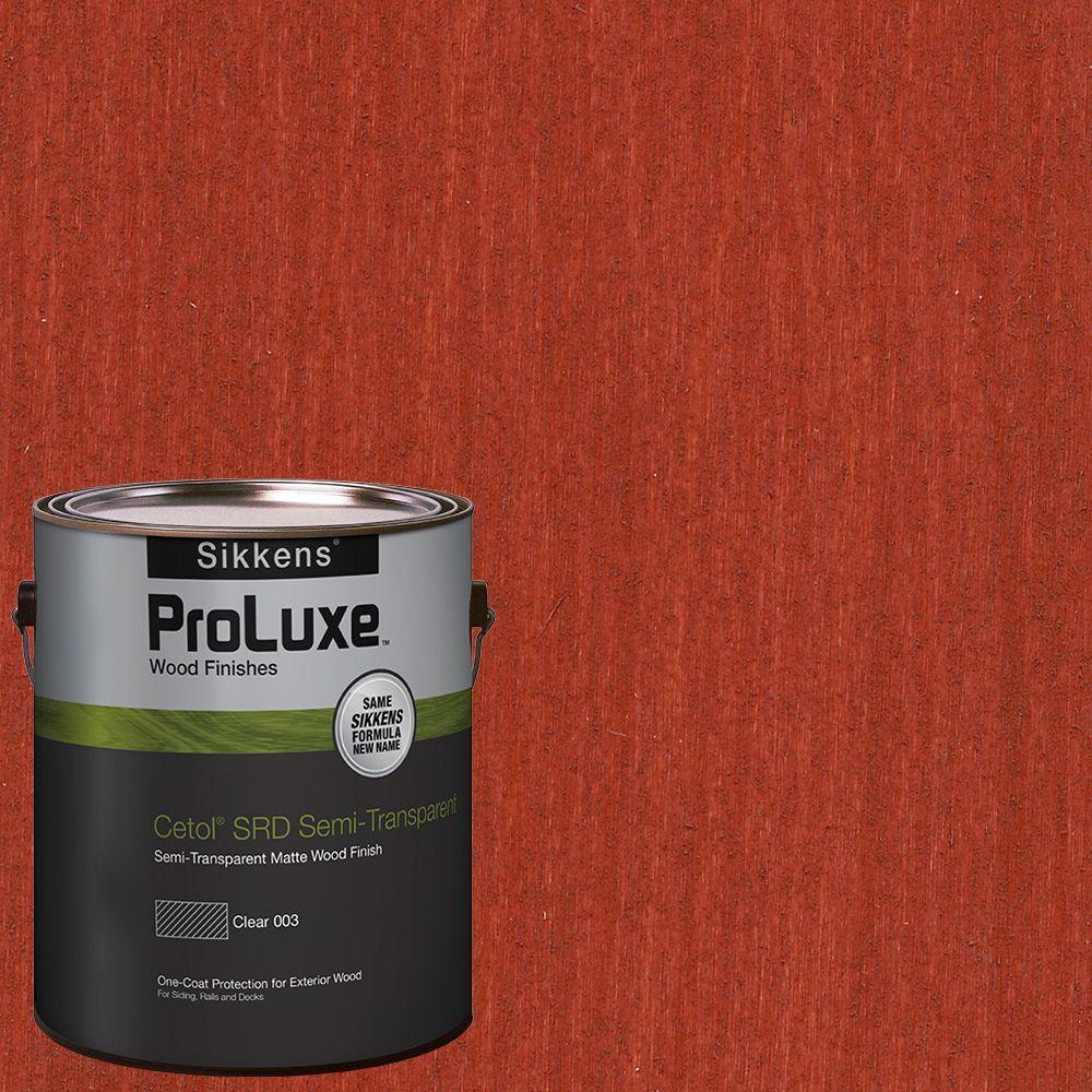 Sikkens Proluxe 1 Gal Hdgsrd St 52 Navajo Red Cetol Srd Semi Transparent Exterior Wood Finish