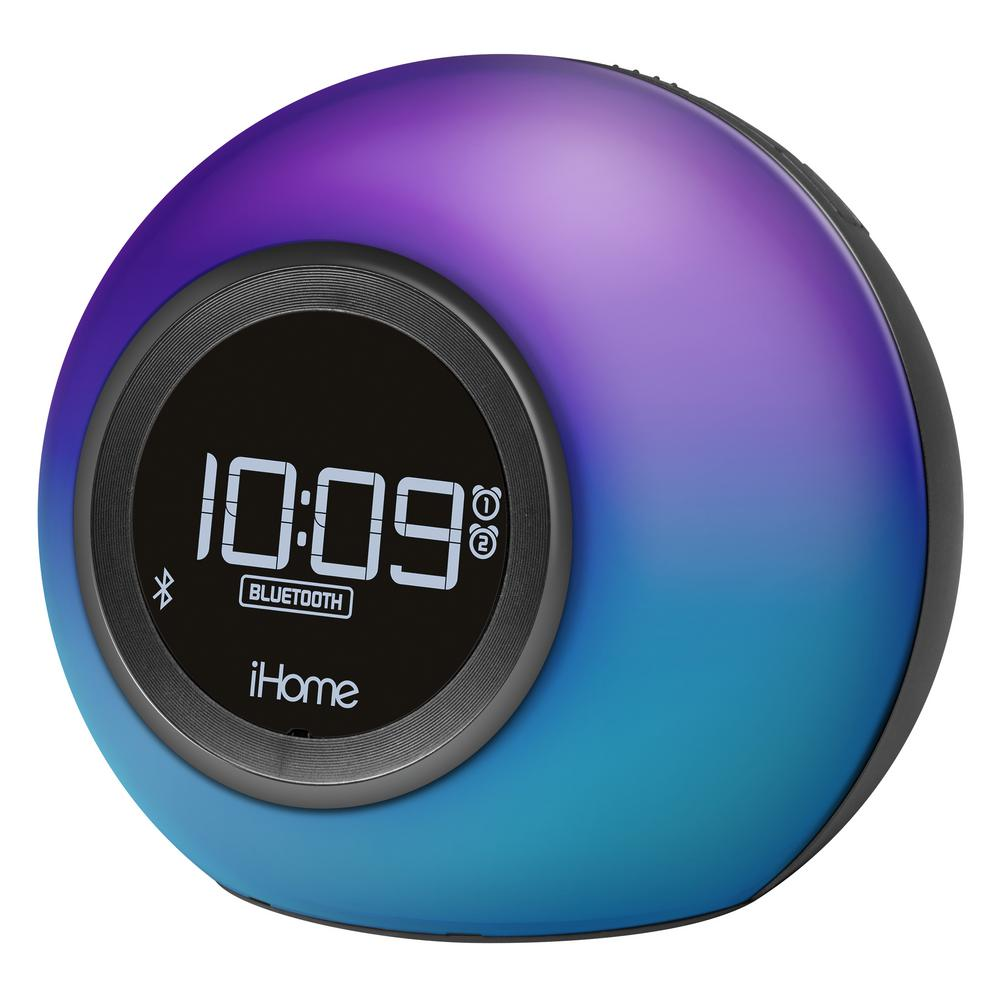 Bluetooth Color Changing Dual Alarm Clock FM Radio with USB Charging