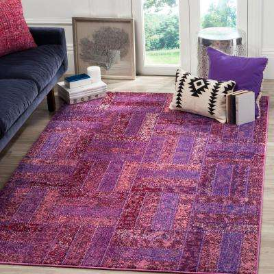 monaco purplemulti 8 ft x 11 ft area rug