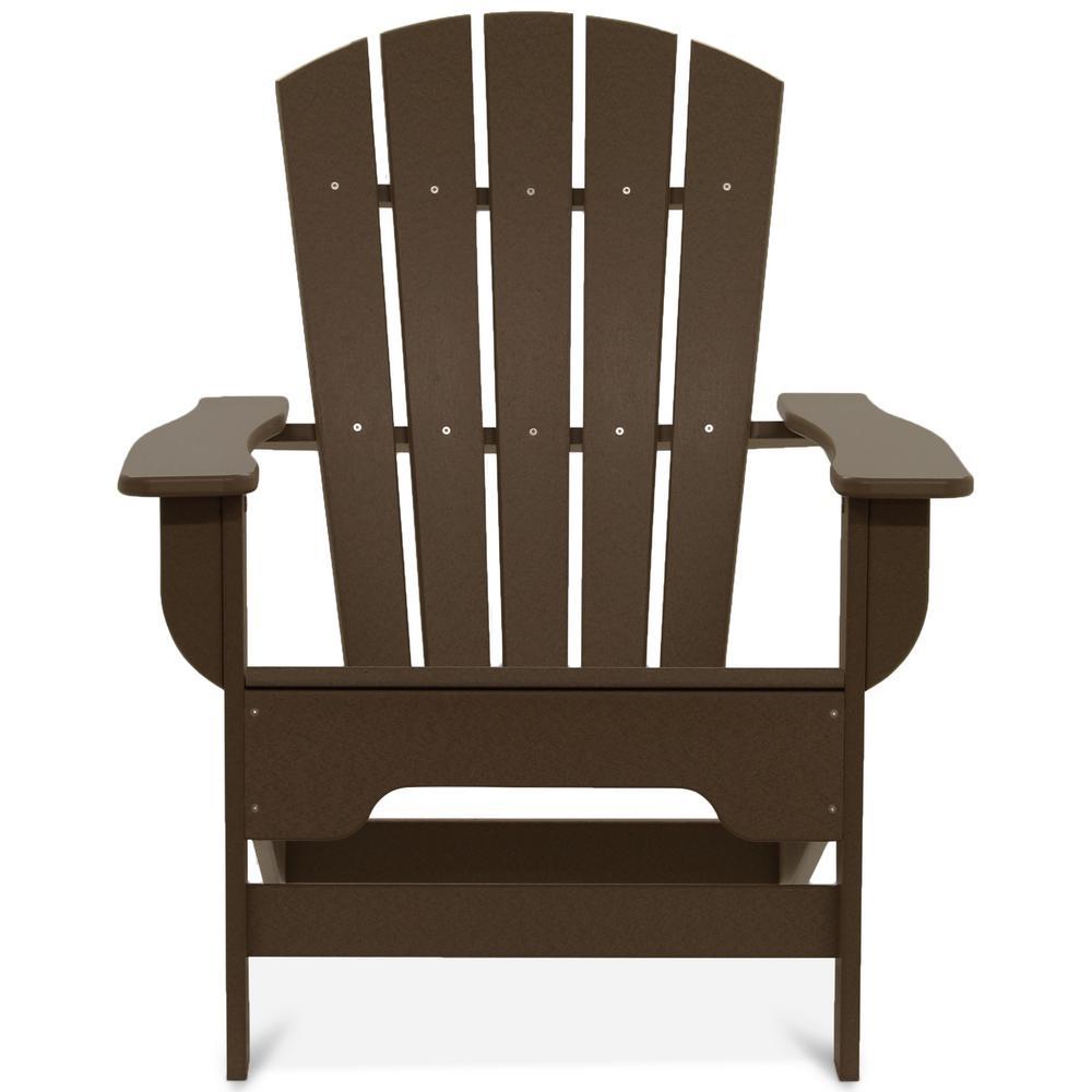 Boca Raton Chocolate Recycled Plastic Adirondack Chair