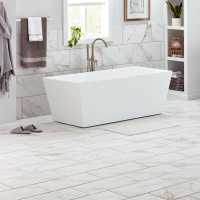 Sanden Calacatta Gold Marble Matte 12 in. x 24 in. Glazed Porcelain Floor and Wall Tile (15.6 sq. ft./Case)