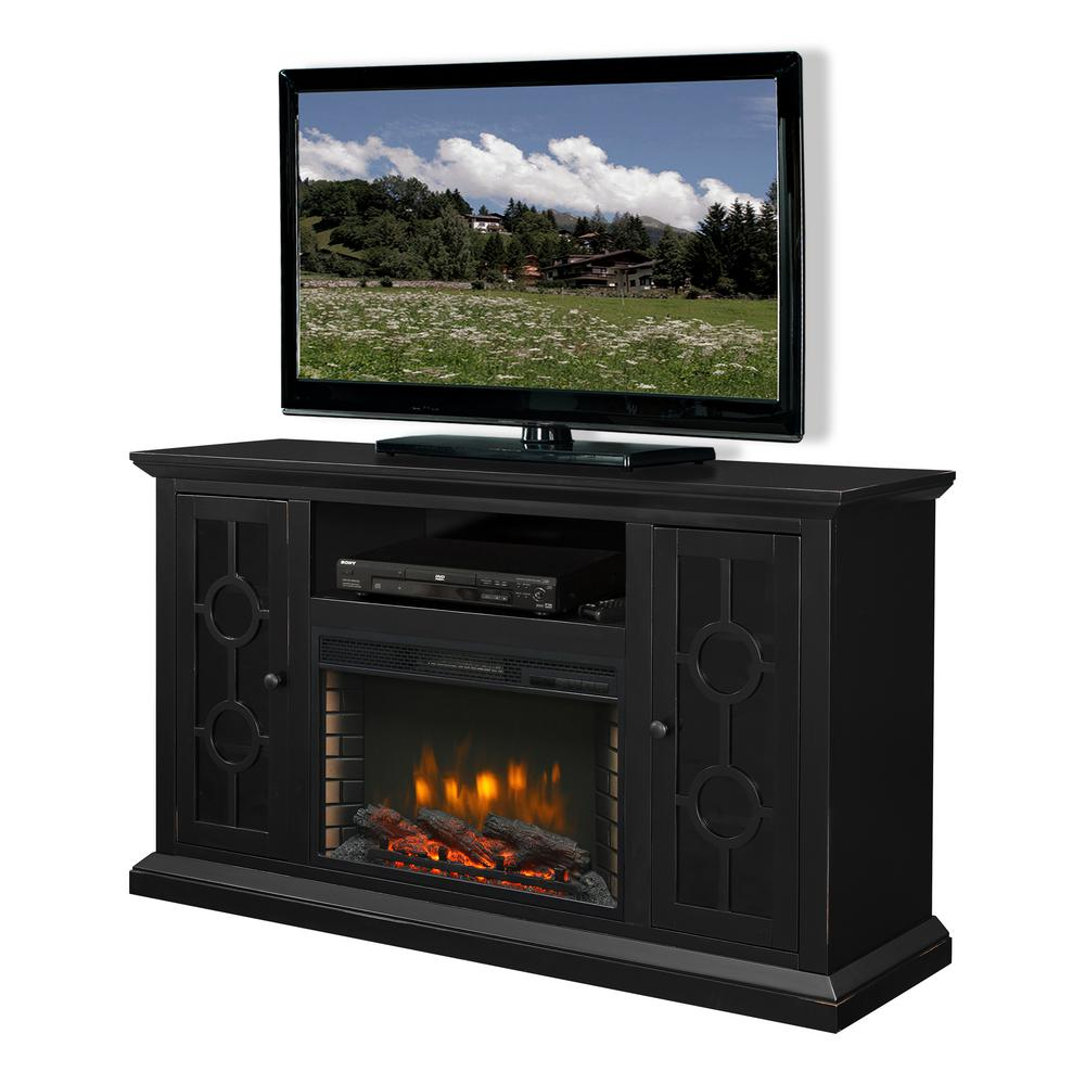Fresno Indoor Gel Tv Stand Fireplace In Black G1200 B