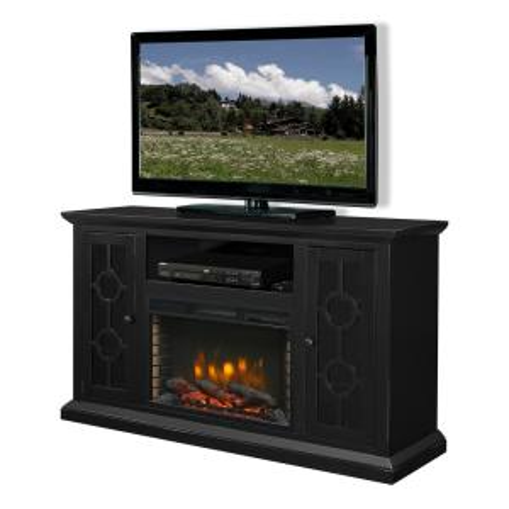 Muskoka Ashby 58 inch Freestanding Electric Fireplace TV Stand in Aged Black by Muskoka