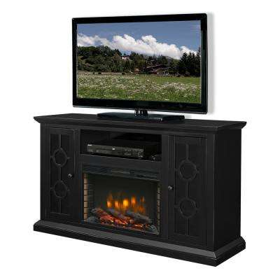 Ashby 58 in. Freestanding Electric Fireplace TV Stand in Aged Black