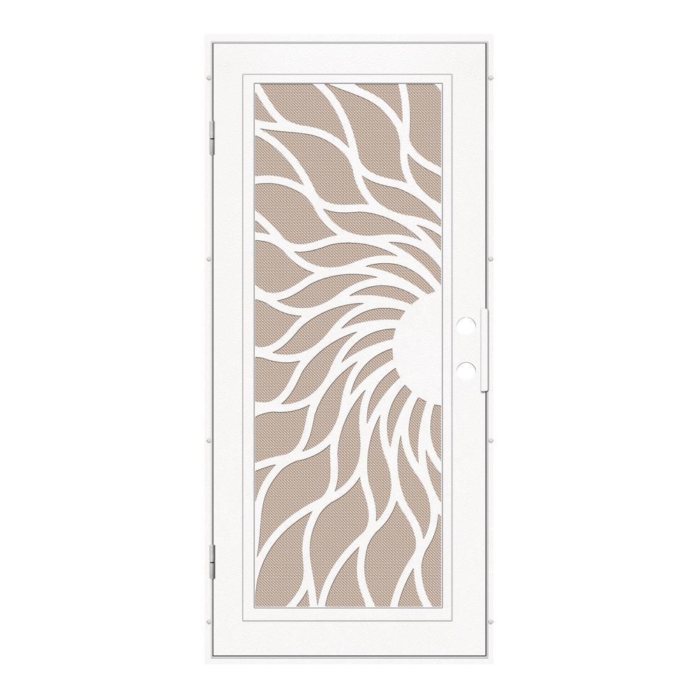 Unique Home Designs 36 in. x 80 in. Sunfire White Left-Hand Surface ...