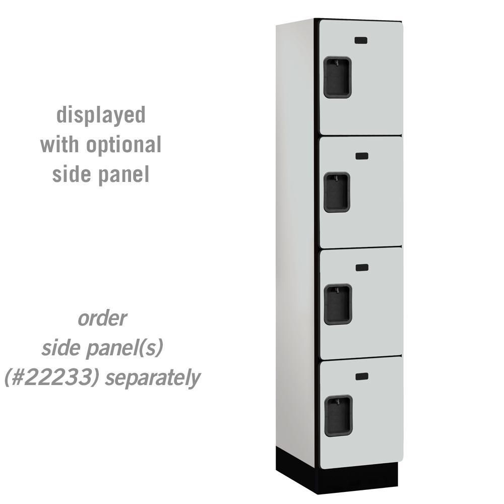 Salsbury Industries 24000 Series 4 Tier 18 in. D Compartments Extra Wide Designer Wood Locker in Gray