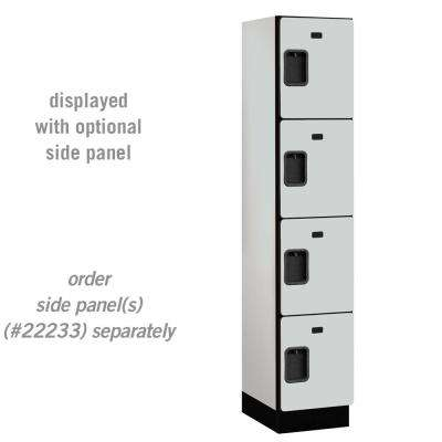 24000 Series 4 Tier 18 in. D Compartments Extra Wide Designer Wood Locker in Gray