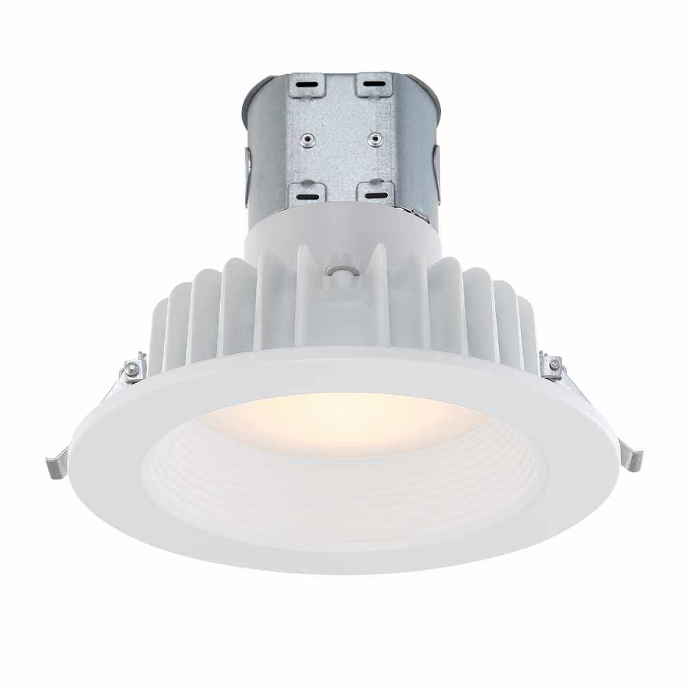 Easy Up 6 In Soft White Integrated Led Recessed Baffle Kit