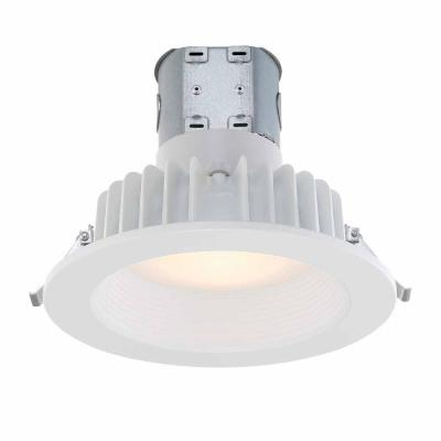 Commercial Electric Easy Up 6u0022 Soft White LED Recessed Baffle Kit CER608943WH30