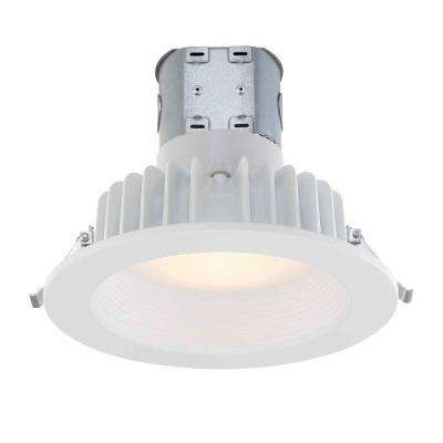 Easy-Up 6 in. White Baffle Integrated LED Recessed Kit at 91 CRI, 3000K, Soft White