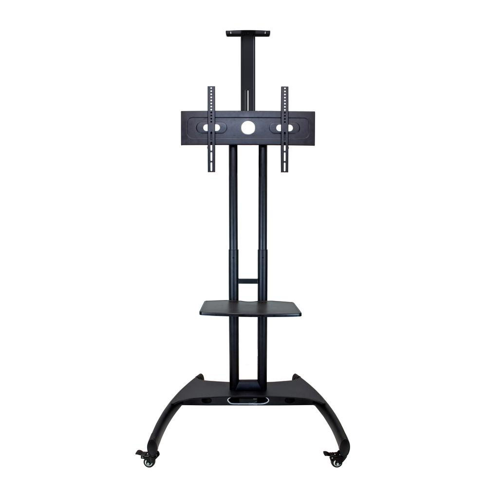 luxor Black Adjustable Height LCD TV Stand + Mount