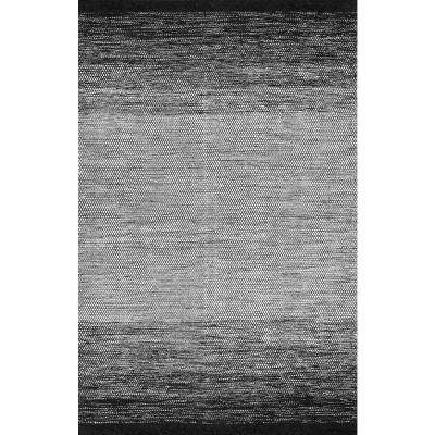Ombre Desantis Black and White 7 ft. 6 in. x 9 ft. 6 in. Area Rug