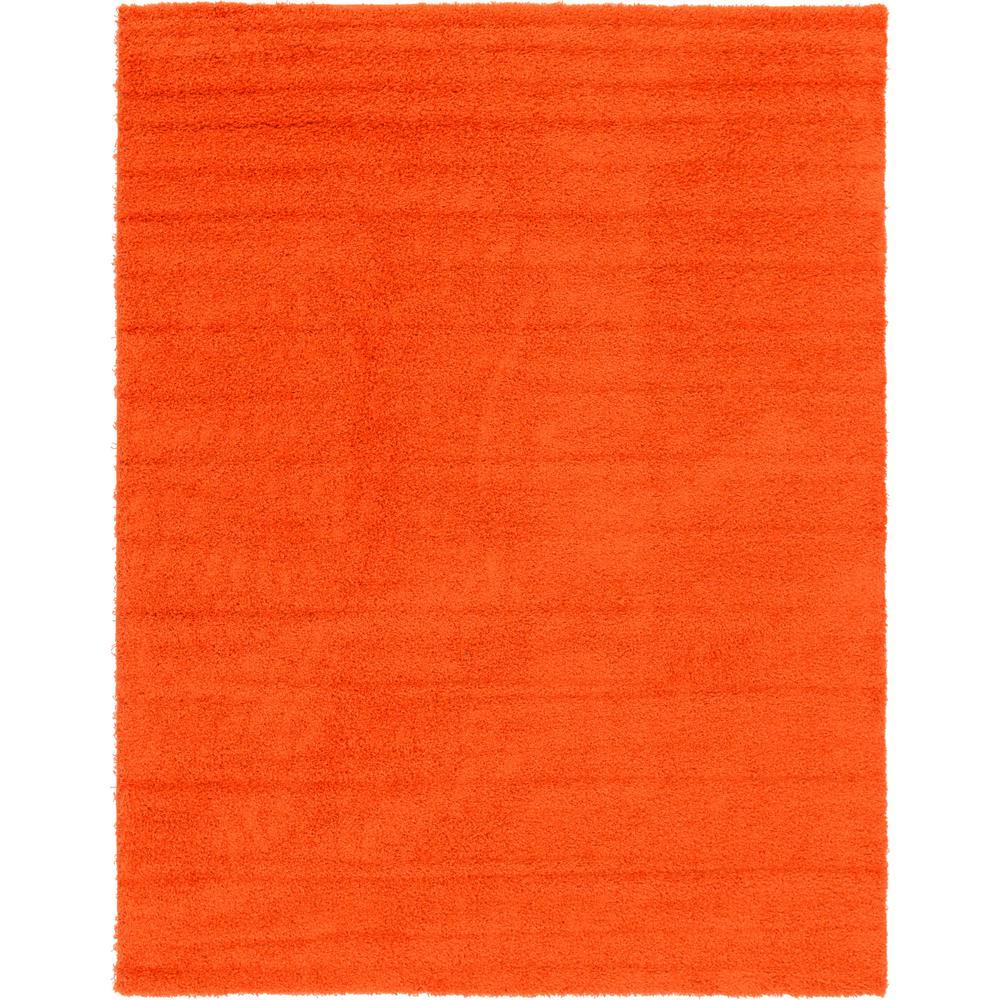 Solid Shag Tiger Orange 9 ft. x 12 ft. Area Rug