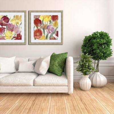 24.75 in. x 24.75 in. 'Sandy's Spring Mix I' by Sandra Iafrate Fine Art Paper Print Framed with Glass Wall Art