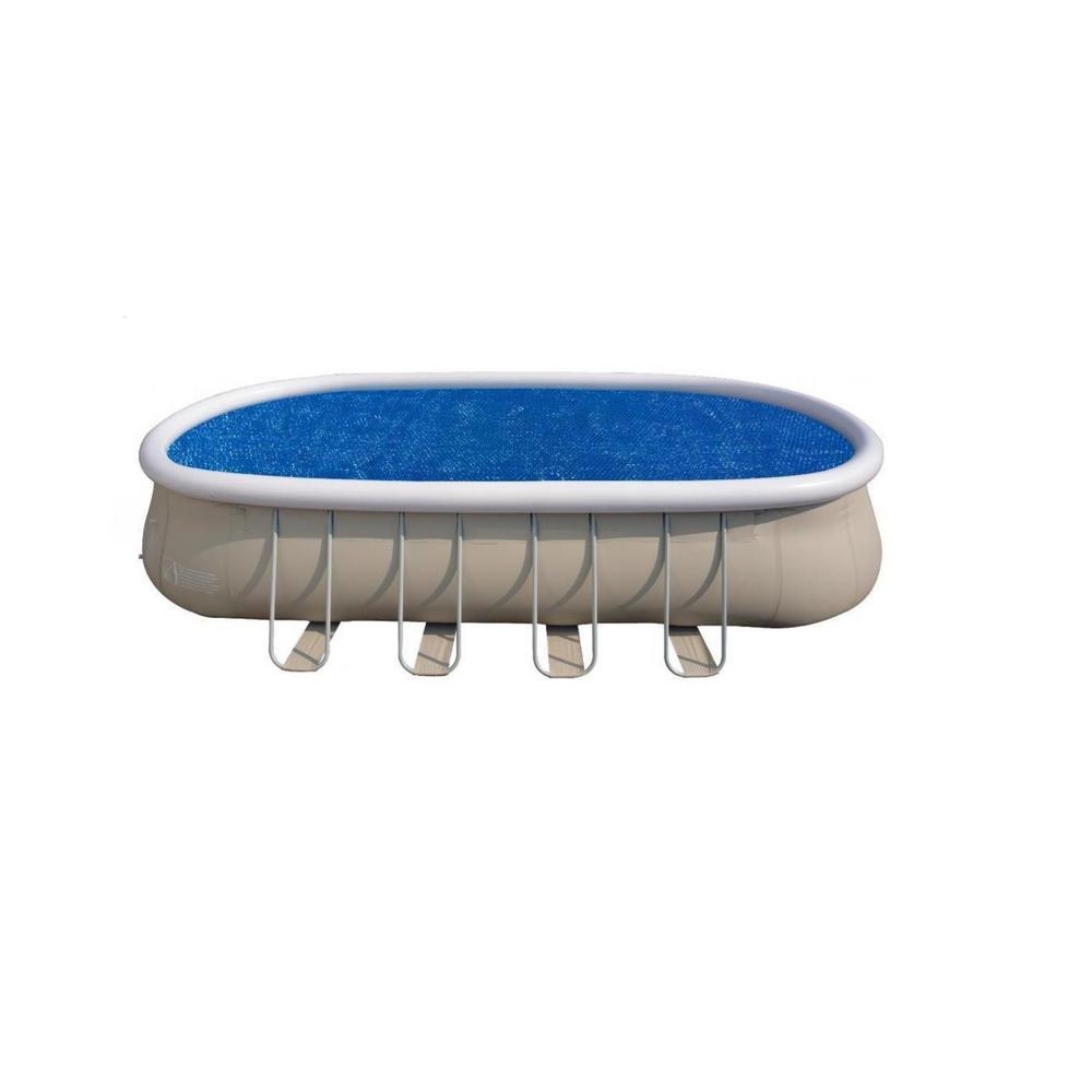 Pool Central 22 ft. Solar Pool Cover for Steel Frame Swimming Pool