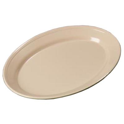 8.5 in. x 12 in. Melamine Oval Platter in Tan (Case of 24)